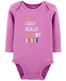 Baby Girls Love My Auntie Collectible Bodysuit