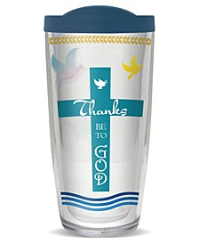 Thanks Be to God Double Wall Insulated Tumbler, 16 oz