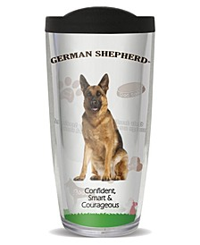 German Shepherd Double Wall Insulated Tumbler, 16 oz