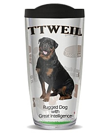 Rottweiler Double Wall Insulated Tumbler, 16 oz