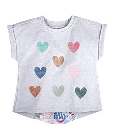Baby Girl's Sequins Heart T-Shirt