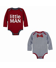 Baby Boy's 2-Pack Bodysuit Set- Little Man