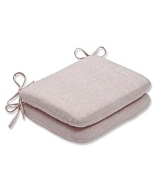 Sunbrella Chartres Rose Rounded Corners Seat Cushion, Set of 2
