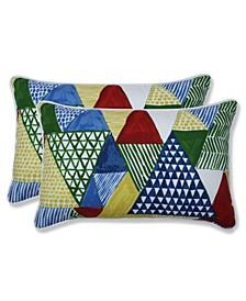 Tribune Multi Rectangular Throw Pillow, Set of 2