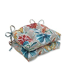 "Colsen Floral 15.5"" x 16"" Outdoor Chair Pad Seat Cushions 2-Pack"