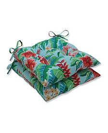 Tropical Paradise Wrought Iron Seat Cushion, Set of 2