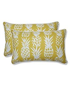 Pineapple Rectangular Throw Pillow, Set of 2