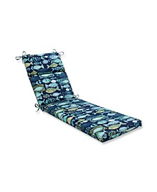 Hooked Lagoon Chaise Lounge Cushion