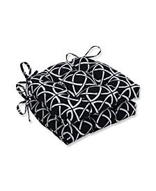 """Catamaran Tile 16.5"""" x 15"""" Outdoor Chair Pad Seat Cushions 2-Pack"""