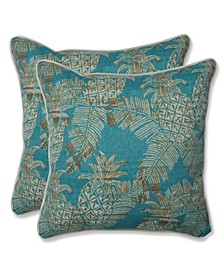 "Pineapple Batik 16"" x 16"" Outdoor Pillow 2-Pack"