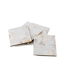 CLOSEOUT! Set of 4 Mother of Pearl Coasters