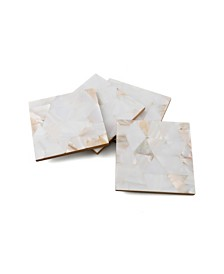 Thirstystone Set of 4 Mother of Pearl Coasters