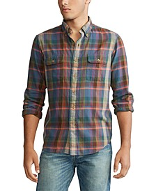 Men's Twill Long Sleeve Sport Shirt