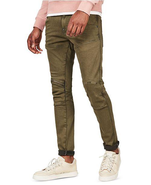 G-Star Raw Men's 5620 3D Skinny-Fit Stretch Zip Knee Jeans
