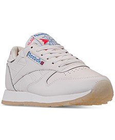 Women's Classic Leather Casual Sneakers from Finish Line