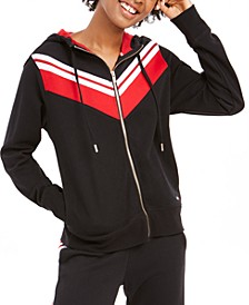 French Terry Colorblocked Zip Hoodie