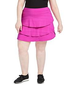 Plus Size Ruffled Skort, Created for Macy's