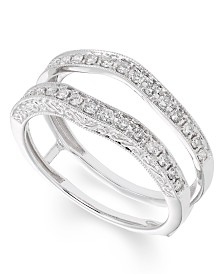 Certified Diamond (1/3 ct. t.w.) Ring insert in 14K White Gold