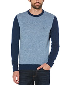 Men's Colorblocked Wool Sweater