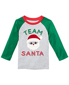 Baby Boys Team Santa-Print T-Shirt, Created For Macy's