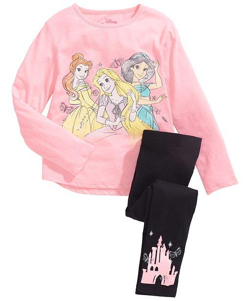 Disney Toddler Girls 2-Pc. Princess Power T-Shirt & Leggings Set
