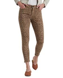 Lucky Brand Ava Leopard-Print Skinny Jeans