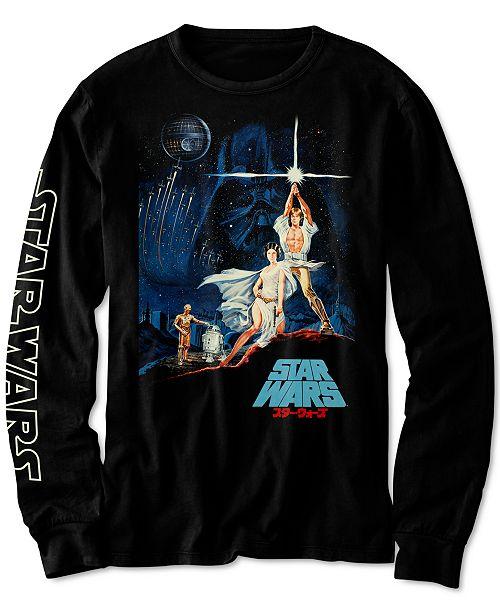 Star Wars Big Boys Vintage Japanese Poster T-Shirt