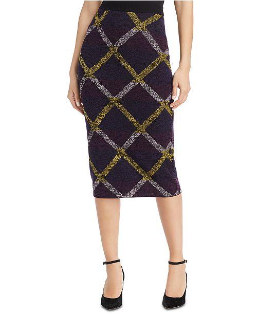 Escada Printed Knit Midi Skirt