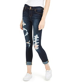 Juniors' Distressed Curvy Jeans