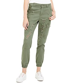 Juniors' Destructed Cargo Pant