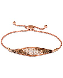 Chocolate Soufflee® Diamond Bolo Bracelet (1-5/8 ct. t.w.) in 14k Rose Gold