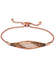 Le Vian® Chocolate Soufflee® Diamond Bolo Bracelet (1-5/8 ct. t.w.) in 14k Rose Gold