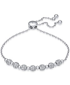 INC Silver-Tone Pavé Fireball Slider Bracelet, Created For Macy's