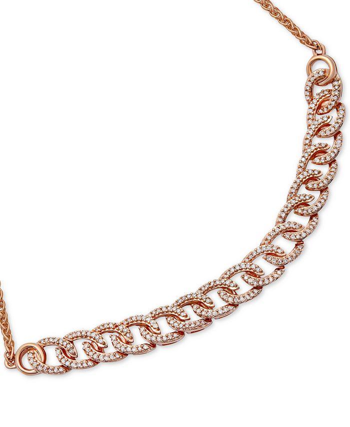 Wrapped in Love - Diamond Chain Link Bolo Bracelet (1/2 ct. t.w.) in 10k Rose Gold