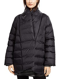 Shawl-Collar Quilted Coat
