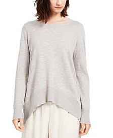 High-Low Organic Sweater, Regular & Petite