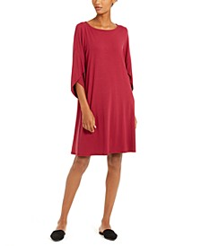 Tulip-Sleeve Shift Dress