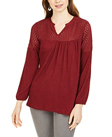 Crochet-Yoke Top, Created for Macy's