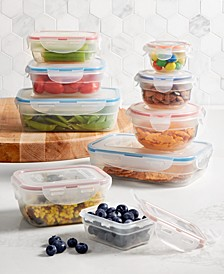 Easy Essentials Color Mates 18-Pc. Food Storage Container Set