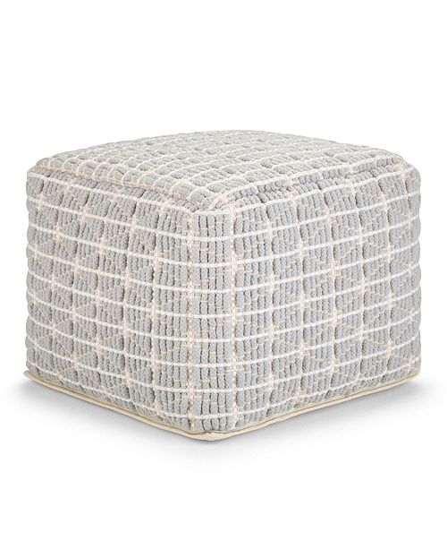 Furniture Noreen Square Pouf, Quick Ship