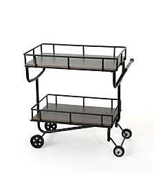 Logan Industrial Bar Cart, Quick Ship