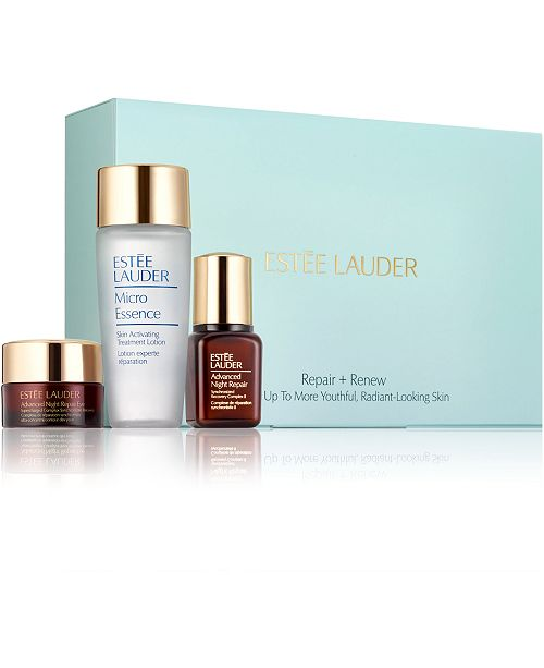 Estee Lauder Limited Edition 3-Pc. Repair + Renew Wake Up To More Youthful, Radiant-Looking Skin Set