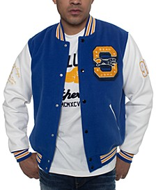 Men's Colorblocked Varsity Jacket