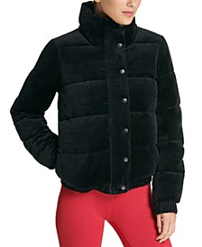 Sport Velour Puffer Jacket