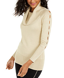 Thalia Sodi Cowl-Neck Cutout-Sleeve Sweater, Created For Macy's