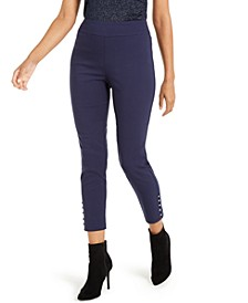 Cropped Button-Hem Pants, Created For Macy's