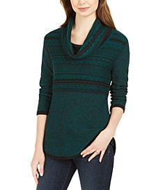 Cowl-Neck Printed Sweater, Created For Macy's