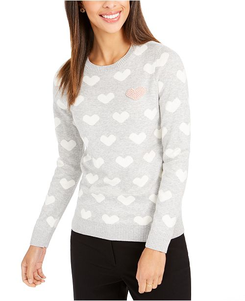 Charter Club Heart Sweater, Created for Macy's