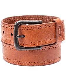 Men's Logo Leather Belt
