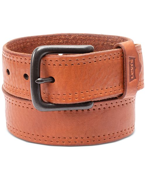Levi's Men's Logo Leather Belt